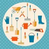 Garden tools set Royalty Free Stock Photo