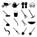 Garden Tools. Set Of Garden Tools Illustrations Royalty Free Stock Image