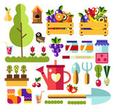 Garden tools set of illustrations Royalty Free Stock Photo