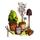 Garden Tools Set Royalty Free Stock Photography
