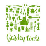 Garden tools set Royalty Free Stock Images