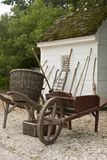 Garden tools by shed Stock Photography