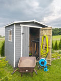 Garden tools shed Stock Photography