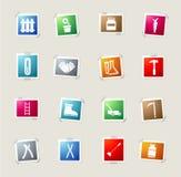 Garden tools simply icons Stock Photos