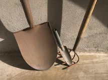 Garden Tools in Sunlight Royalty Free Stock Photo
