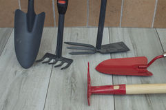 Garden tools. Tools to work the land Royalty Free Stock Photography