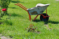 Wheelbarrow garden tool Stock Photography