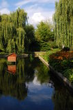 Garden in Torun. Public Garden with Pond in Torun Stock Photography