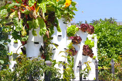 Garden Tower Sustainable Living Royalty Free Stock Images