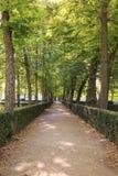 Garden in Aranjuez, Spain. Garden in the town of  Aranjuez, Spain Royalty Free Stock Photography