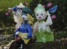 Garden toys in the garden stock photography
