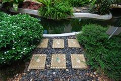 Garden in trainning center Stock Images