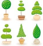 Garden Trees - set 1 Royalty Free Stock Photos