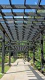 Garden trellis arbor Royalty Free Stock Image