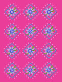 Garden Trellis in Hot Pink Royalty Free Stock Photos