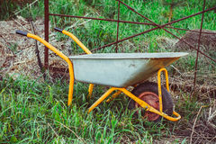 A garden trolley stands in the garden Stock Images
