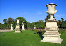 Garden of the Tuileries. View of Tuileries Gardens in Paris, France Royalty Free Stock Images