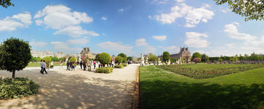 Garden of Tuileries. (jardin des tuileries) in paris, France Stock Photos