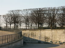 Garden of the Tuileries in Win. Ter, Paris royalty free stock photo