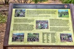 Garden of Tumacacori Mission Stock Photo