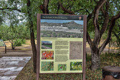 Garden of Tumacacori Mission Royalty Free Stock Image