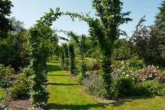 Garden tunnel archway in a classical garden Royalty Free Stock Photo