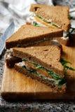 Garden turkey sandwich lemon mayo Stock Image