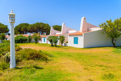 Garden with typical holiday houses Stock Images