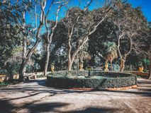 Garden in Valletta stock image