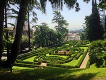 Garden in Vatican Stock Photos