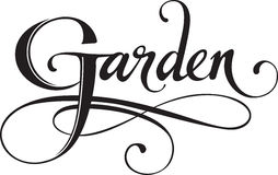 Garden. Vector version of my own calligraphy Royalty Free Stock Images