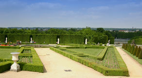 Garden at Versailles. A well manicured garden at Versailles Palace Stock Images
