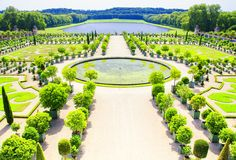 Garden of Versailles Palace, Paris, France Royalty Free Stock Photography