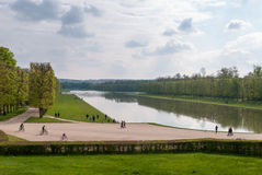 Garden of Versailles. The Palace of Versailles or simply Versailles, is a royal château in Versailles in the Île-de-France region of France. In French it is Royalty Free Stock Images