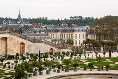 Garden of Versailles. The Palace of Versailles or simply Versailles, is a royal château in Versailles in the Île-de-France region of France. In French it is Royalty Free Stock Photography