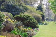 Garden view. Bloosom, blooming garden, spring Stock Photo