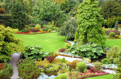 Garden view. In park setting Royalty Free Stock Image