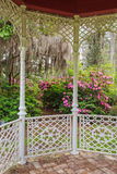 Garden View from Gazebo Stock Photo