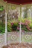 Garden View from Gazebo Stock Photo