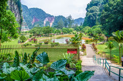 Garden view of the Kek Lok Tong which is located at Gunung Rapat in the south of Ipoh. Ipoh,Malaysia - July 16,2015 : Entrance view of the Kek Lok Tong which is Royalty Free Stock Photos