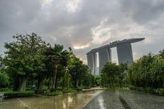 Marina Bay Sands and Gardens stock photo