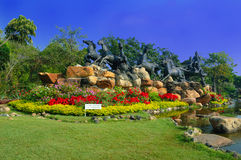 Garden View in Muang Boran, Thailand Royalty Free Stock Images