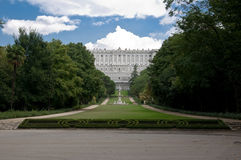 Garden view of royal palace Stock Photos