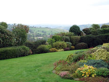 Garden with a View Royalty Free Stock Image