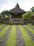 Garden view of a temple in Bali, Indonesia Royalty Free Stock Photography