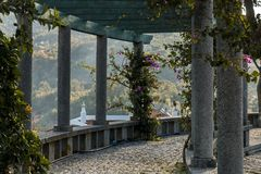 Garden viewpoint of the village of Monchique Royalty Free Stock Photos