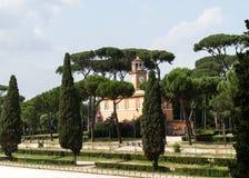 Garden of Villa Borghese in Rome, Royalty Free Stock Photos