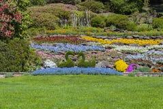 Garden in Villa Carlotta, Lake Como, Italy. Villa Carlotta garden, Lake Como, Italy stock photography
