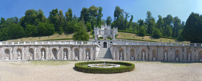 Garden of the Villa della Regina (Queen's villa) in Turin, Italy Royalty Free Stock Photography