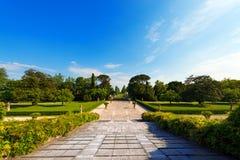 Garden of Villa Emo - Fanzolo Treviso Italy Stock Images